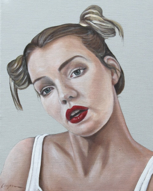 'I Have A Best Side' 40cm x 50cm Oil on Linen, Framed €650