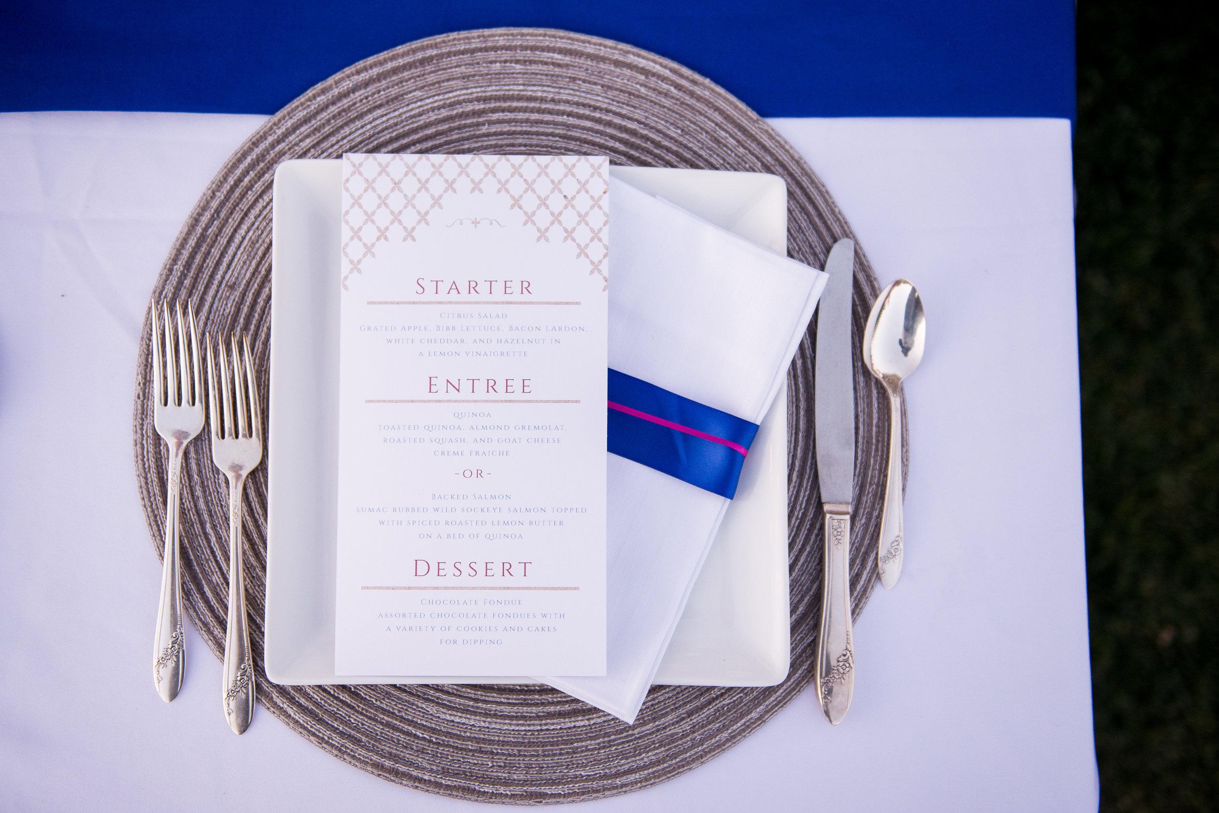Something Blue Wedding Paper Details