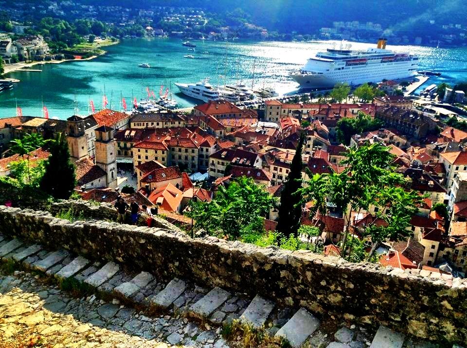 Climbing the Kotor Fortress
