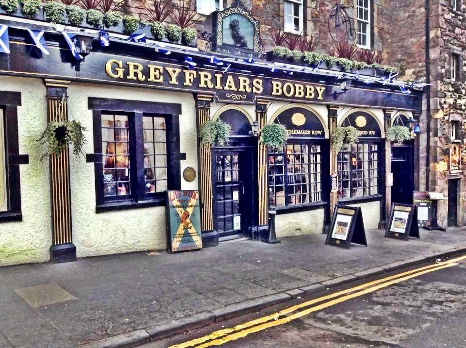 The famous Grey Friars Bobby pub