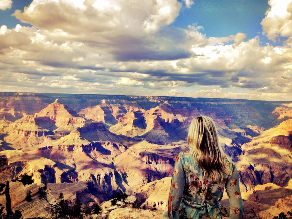 Taking in the views at Yavapai Point lookout