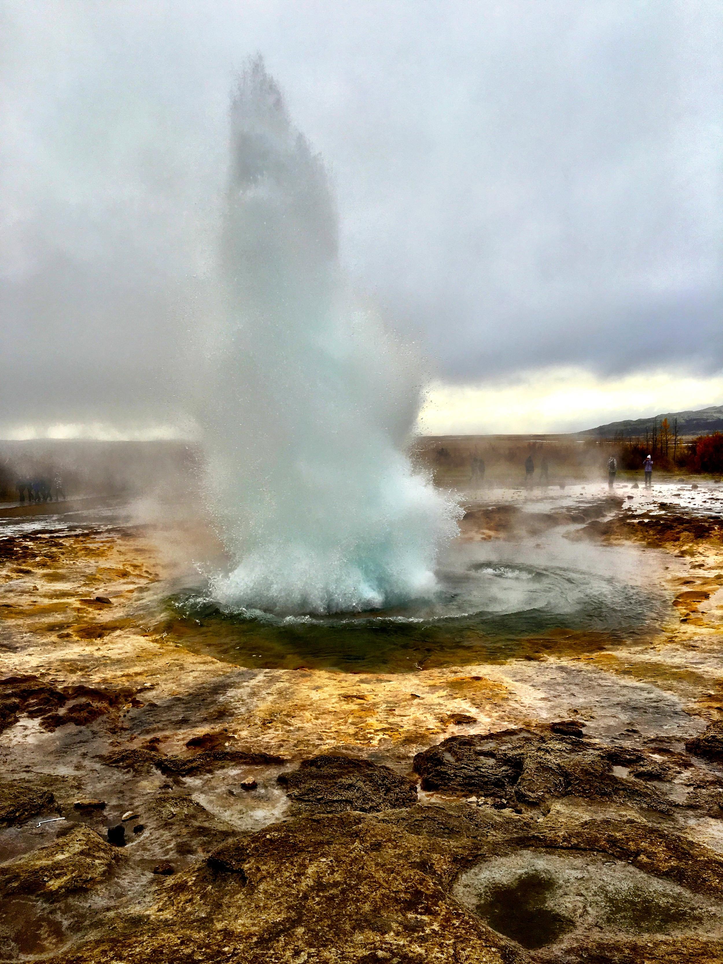 Geysir Hot Springs- The Golden Circle