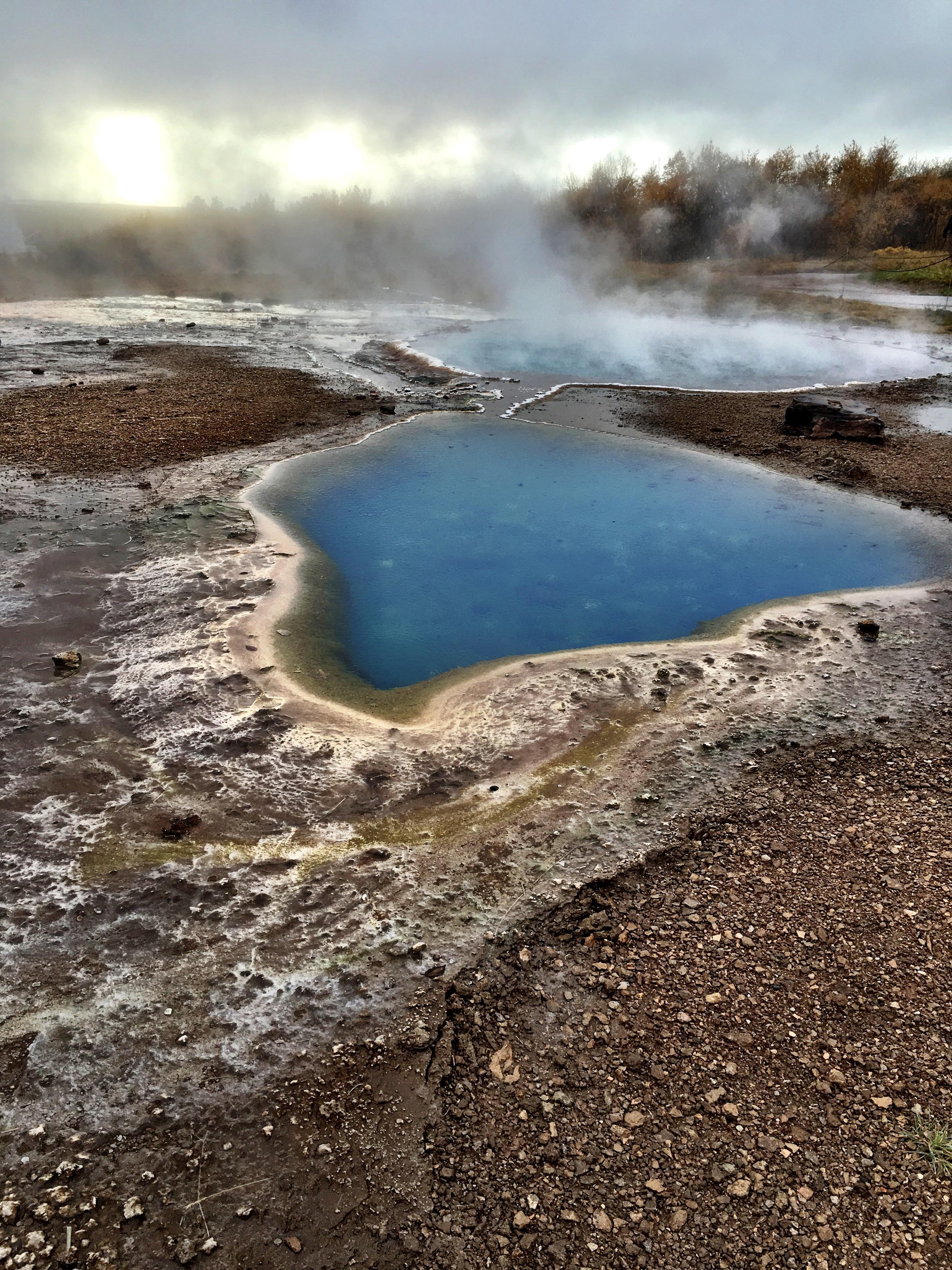 Geothermal pool within the Geysir's