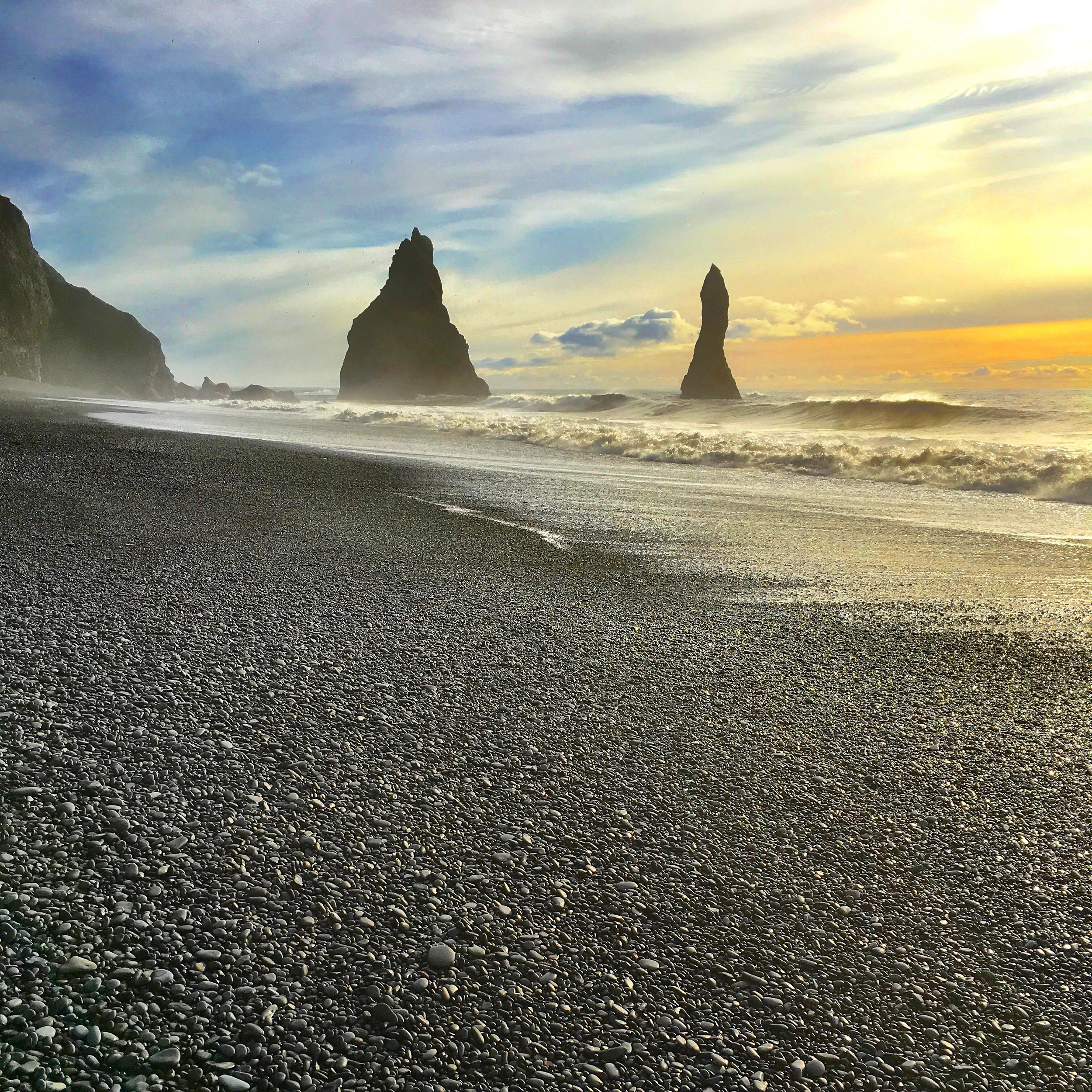 Vik's volcanic sand beach