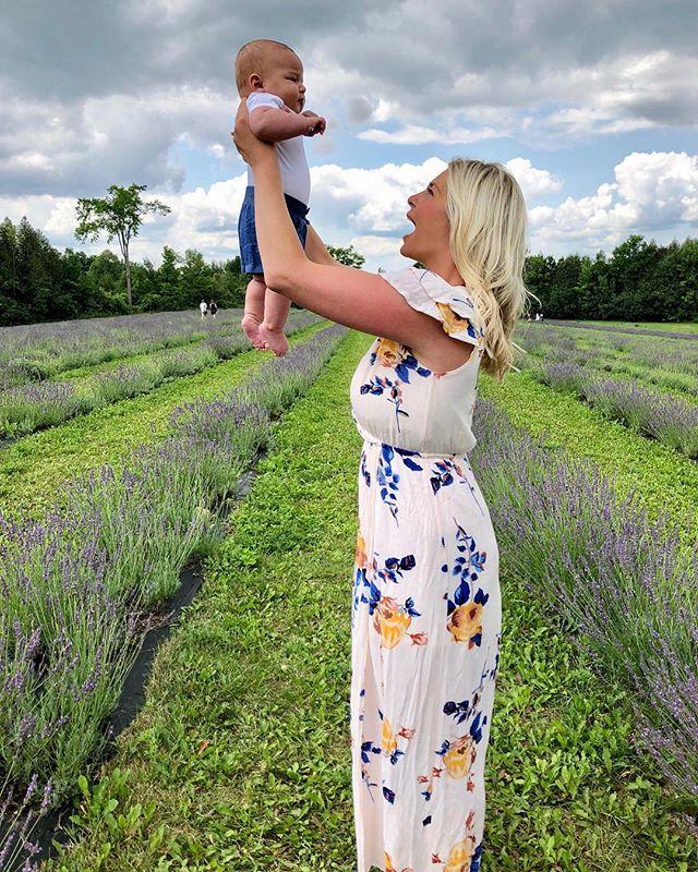 Lavender love with my little love 💕👶🏼🌿 @terrebleu #discoverontario #canada #lavender #babylove #ontariosfinest #summerlovin