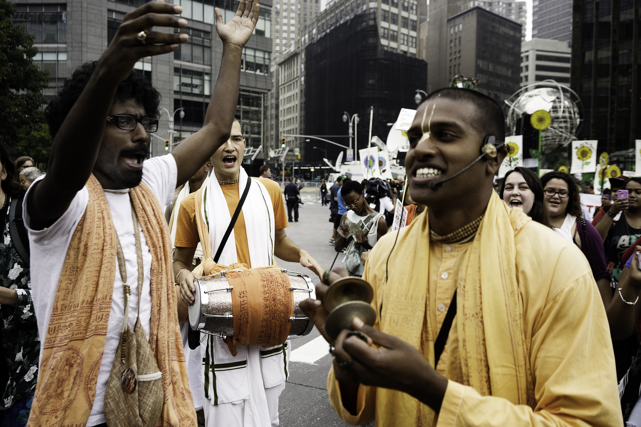 The Hare Krishnas chanting and having the most fun of anyone.