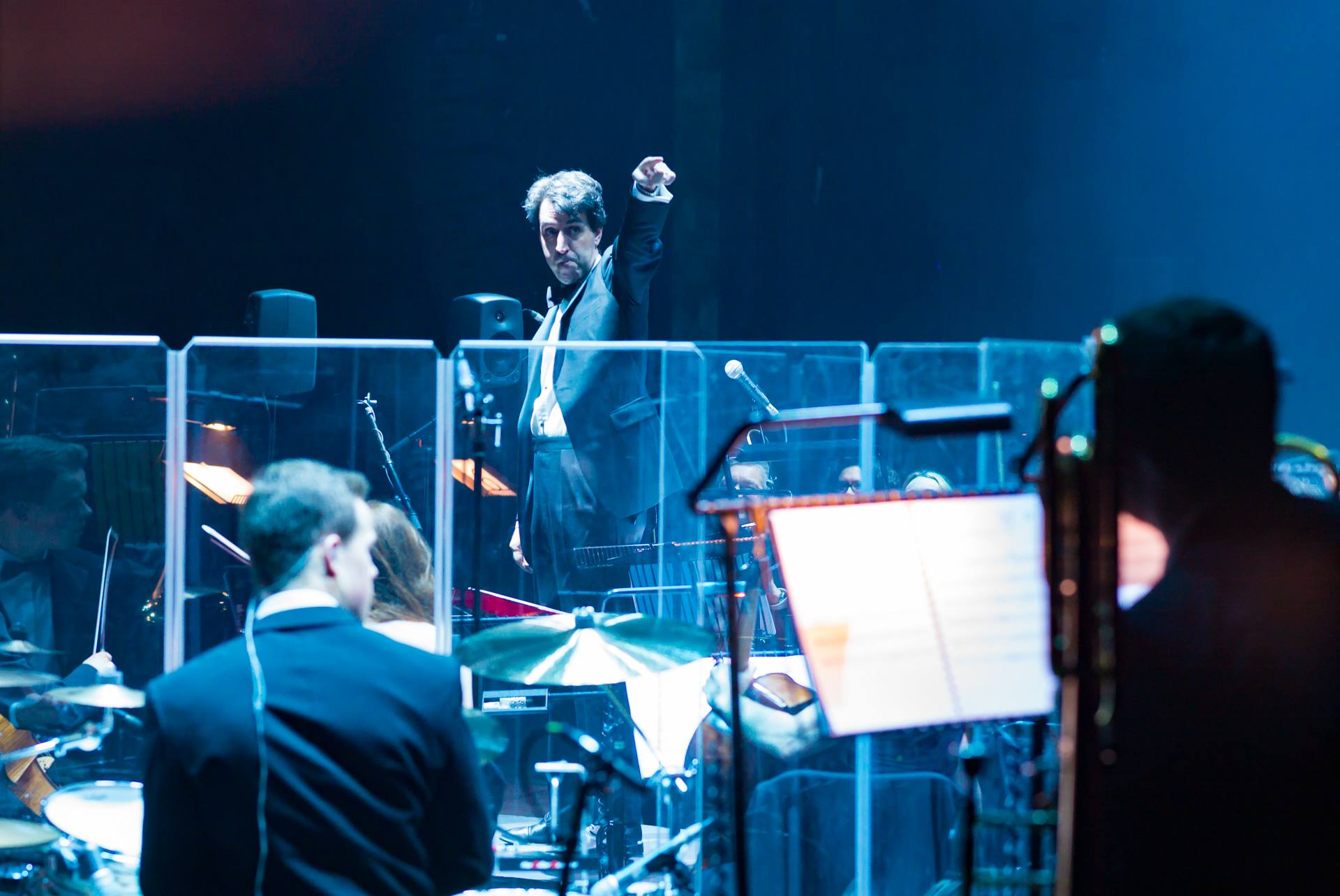 Jason Robert Brown is either telling the lead trumpet to take a bow, or telling me off. I hope it's the former.
