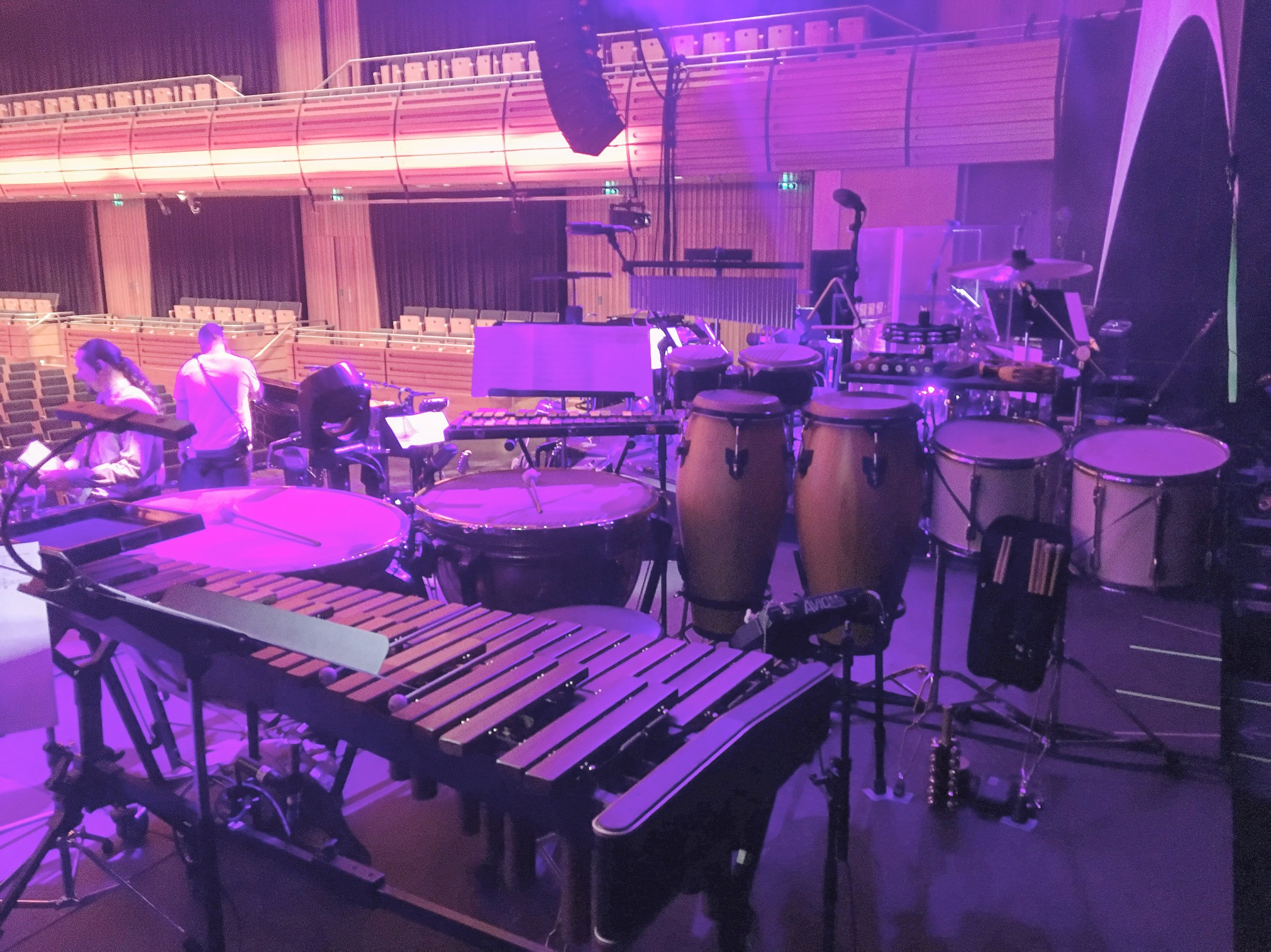 Sheridan Smith tour percussion setup