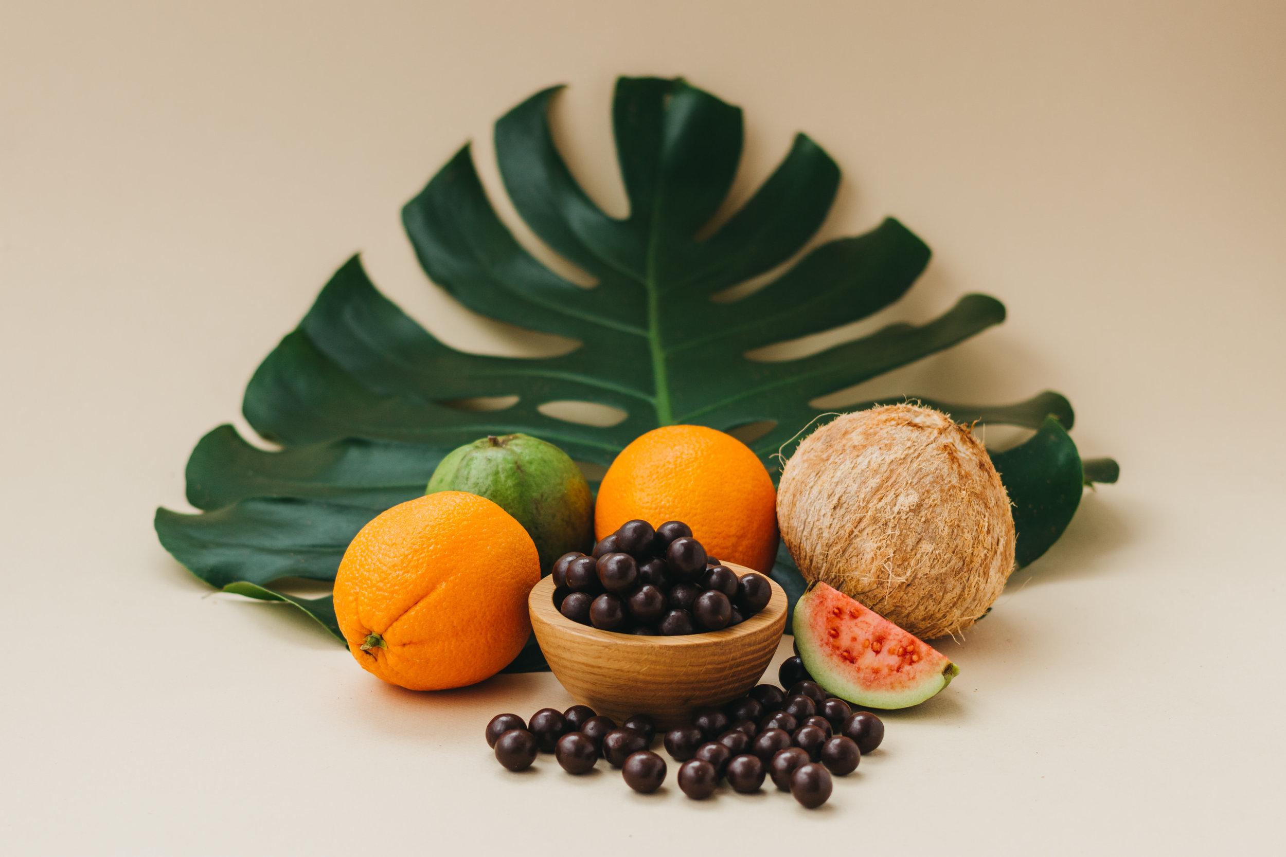 Chocolates and fruits