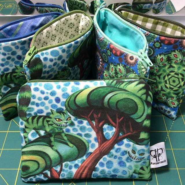 Even similar pouches can have different personalities depending on the zipper/fabric combos.