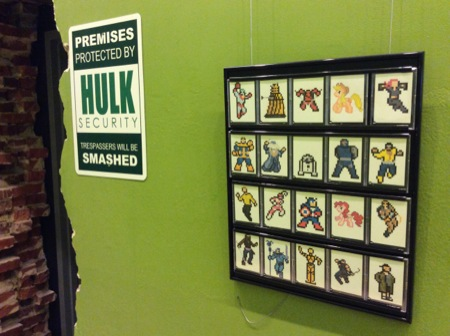 """The main exhibit was a playful """"battle"""" between superheros, and the debate was expressed in words and visuals."""