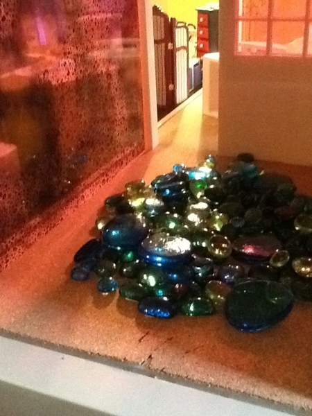 See! I knew I would eventually find a use for those amazing glass pebbles I have been holding onto for years!