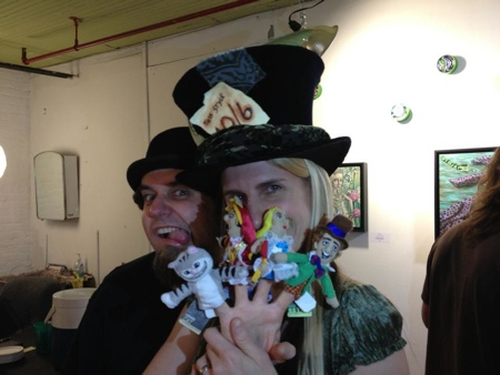 A happy hatter and her mad husband! Thanks to everyone who made it out to the show!