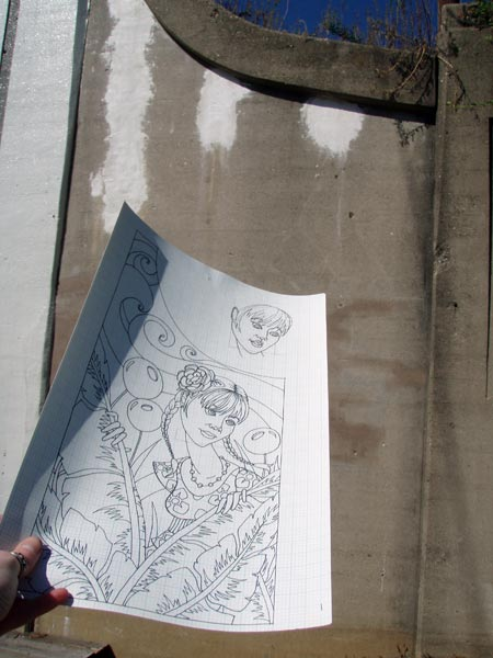 The original sketch for the space.