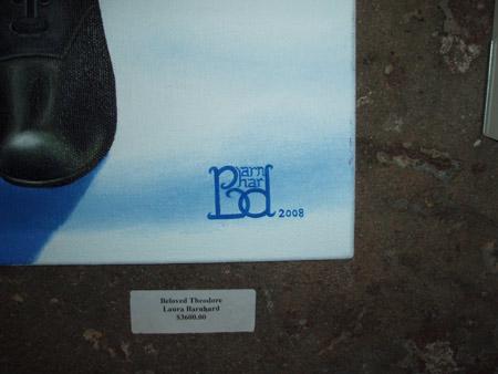 Winner for best signature, Laura Bernhard. (Her work is amazing too!)