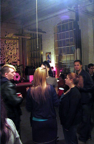 Photos from the Sleepybird CD Release Party by Jeffrey Dwellen. Back of my head with friends...