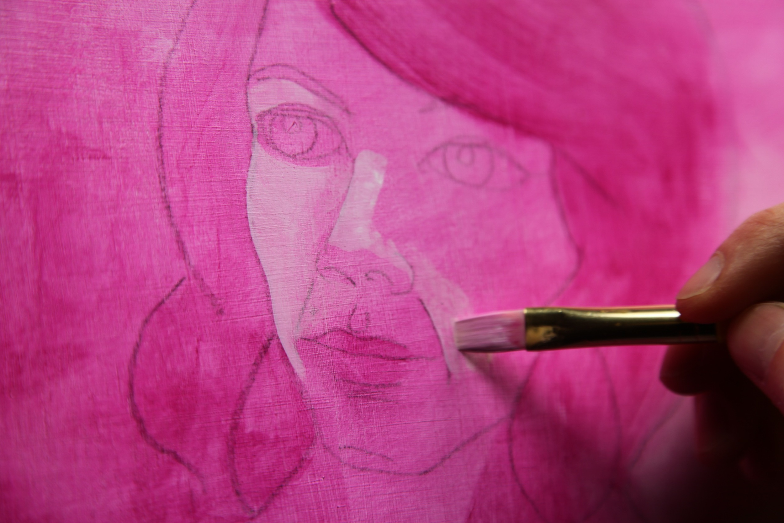 Beginning Hayden's face. She represents the future and she will be bold, inspired by the final phases of the Pokeweed.