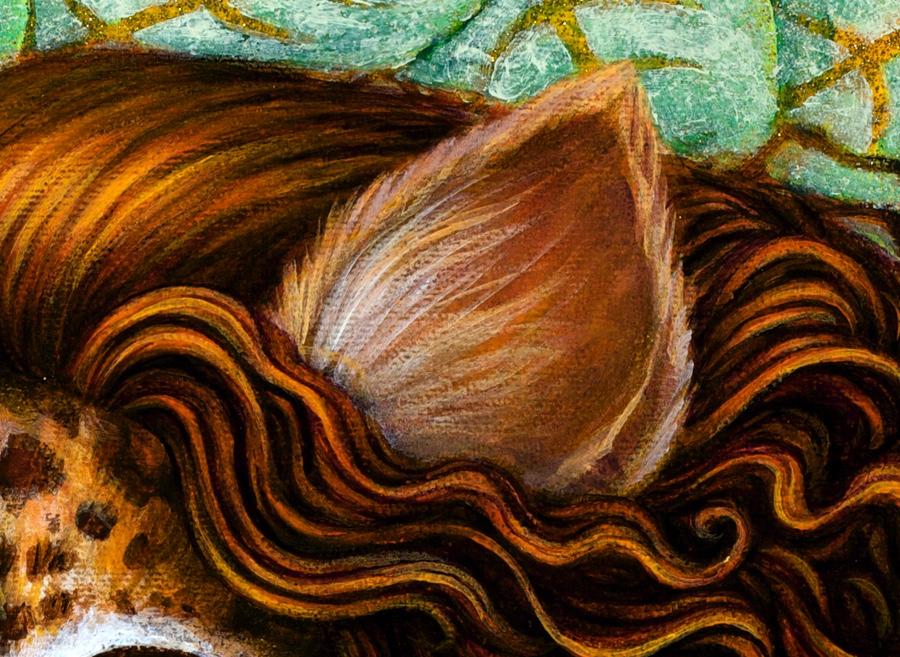 Detail of hair.