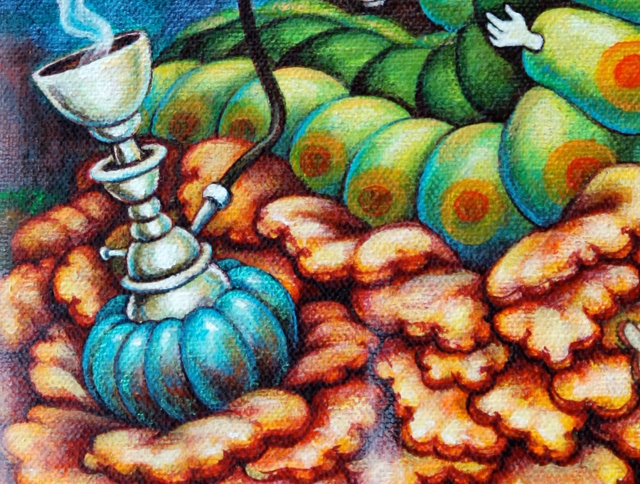 Detail of hookah.