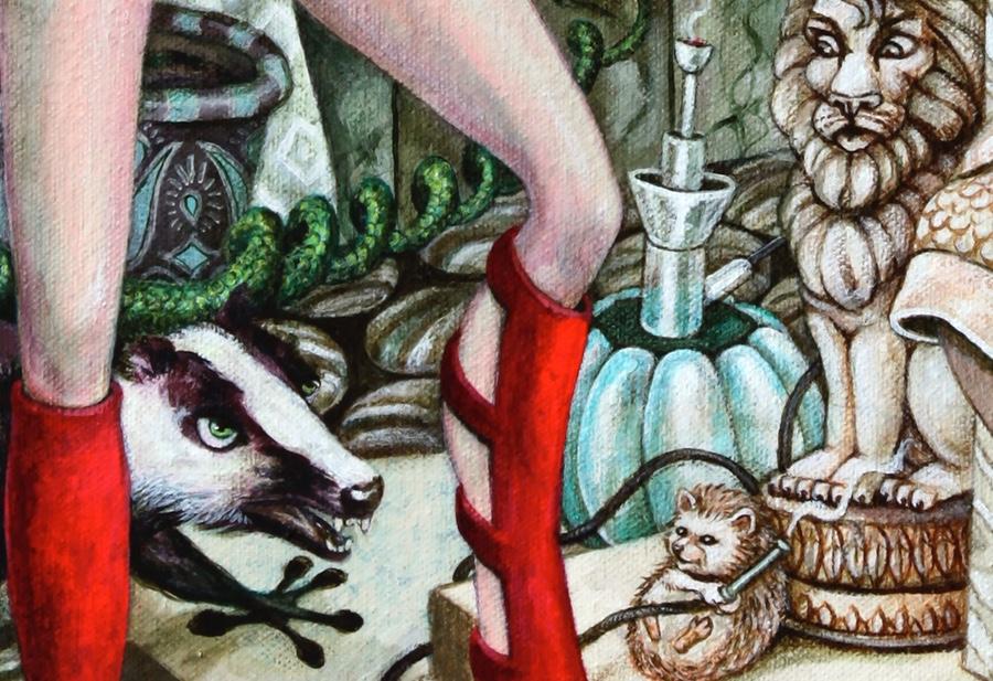 Detail of the Hookah Hog.