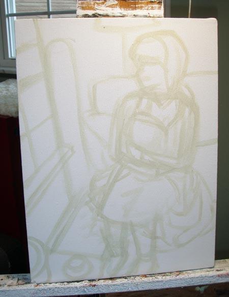 Original sketch on canvas.