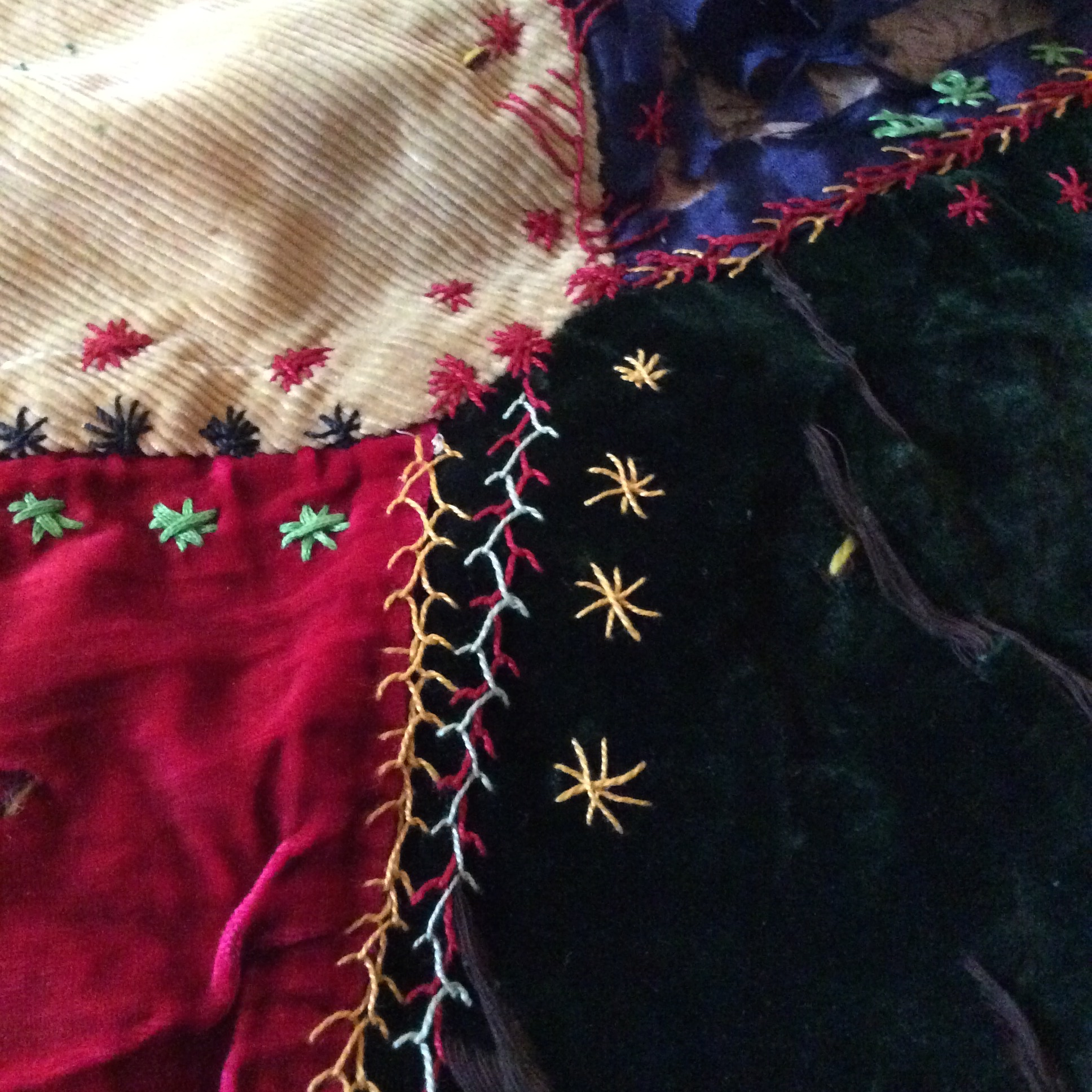 A detail of the hand embellishments.