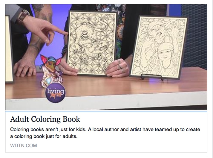 Rob and I were interviewed for  That Naughty Pipe coloring book !