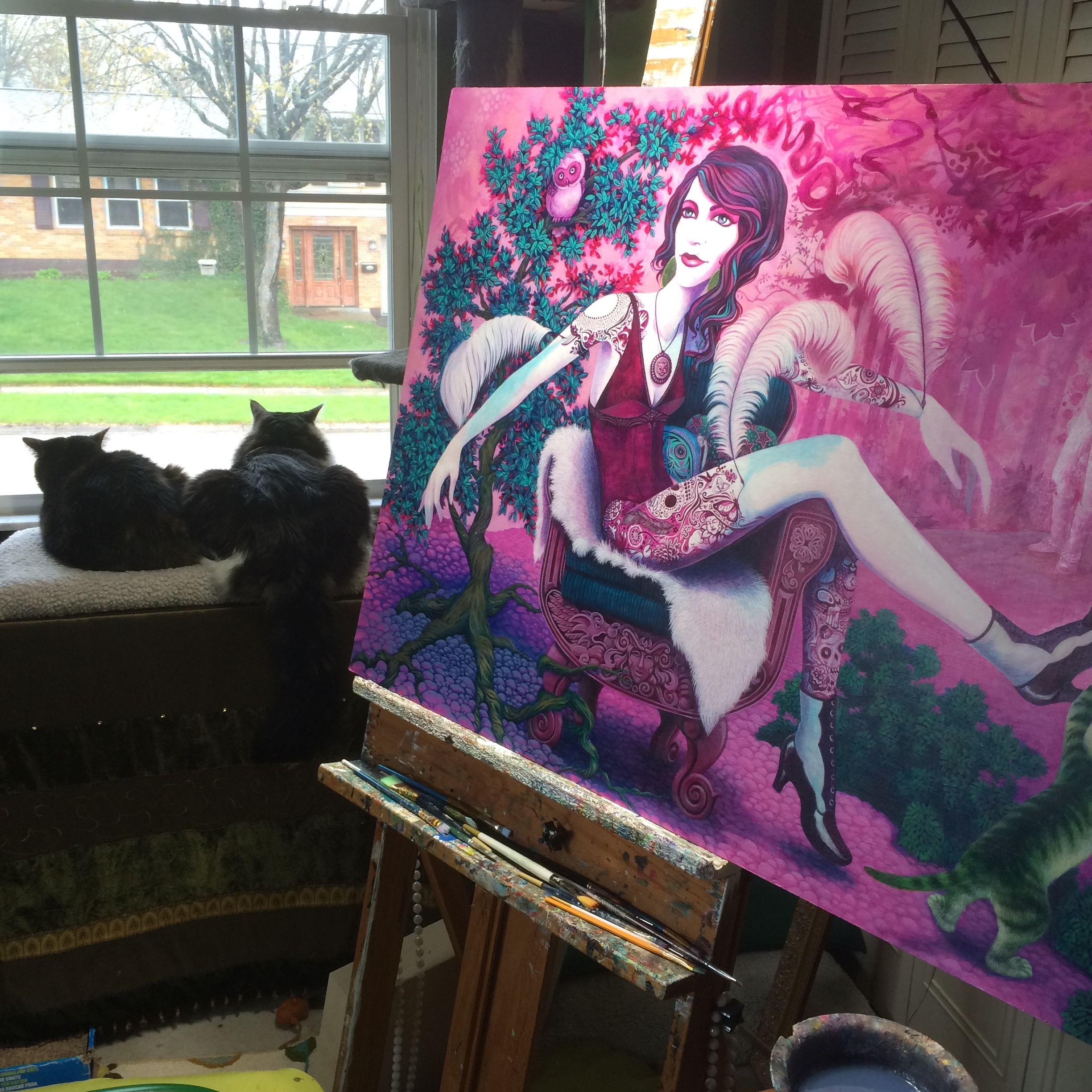 Studio day, but it is SO nice outside!