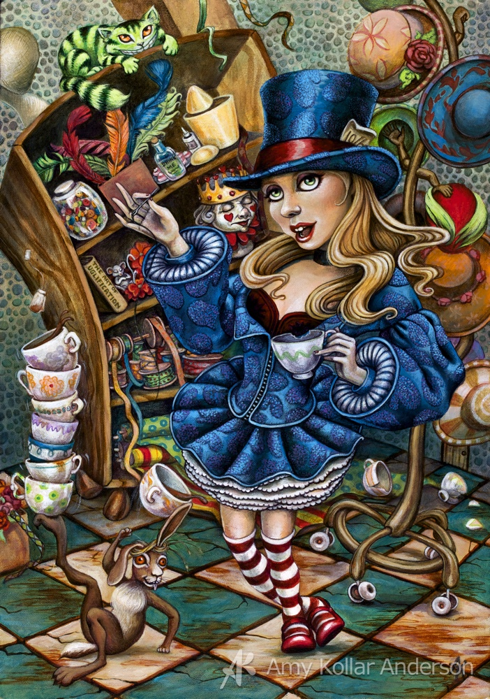 "The Millinery Studio   : acrylic on canvas : 14"" x 20"" : 2010 Collection of Z. Pate •   Studio Images  •     G     oodies"