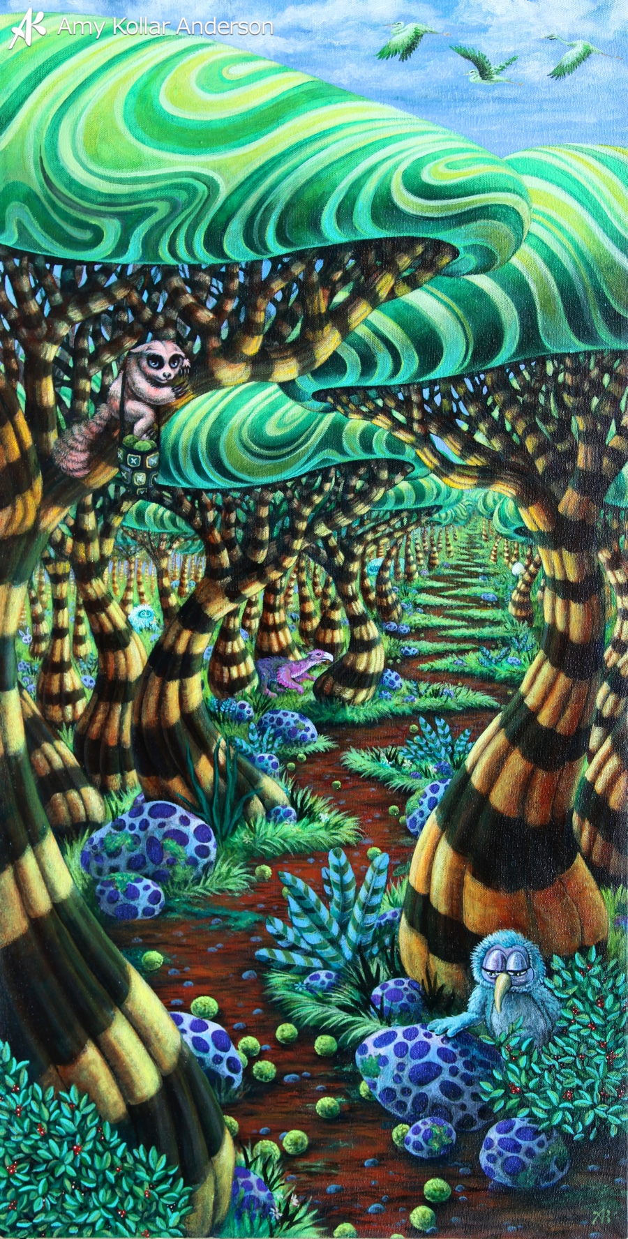 """Wanderland   : acrylic on canvas :18"""" x 36"""" :2012   Collection of S. Walters •   Studio Images"""