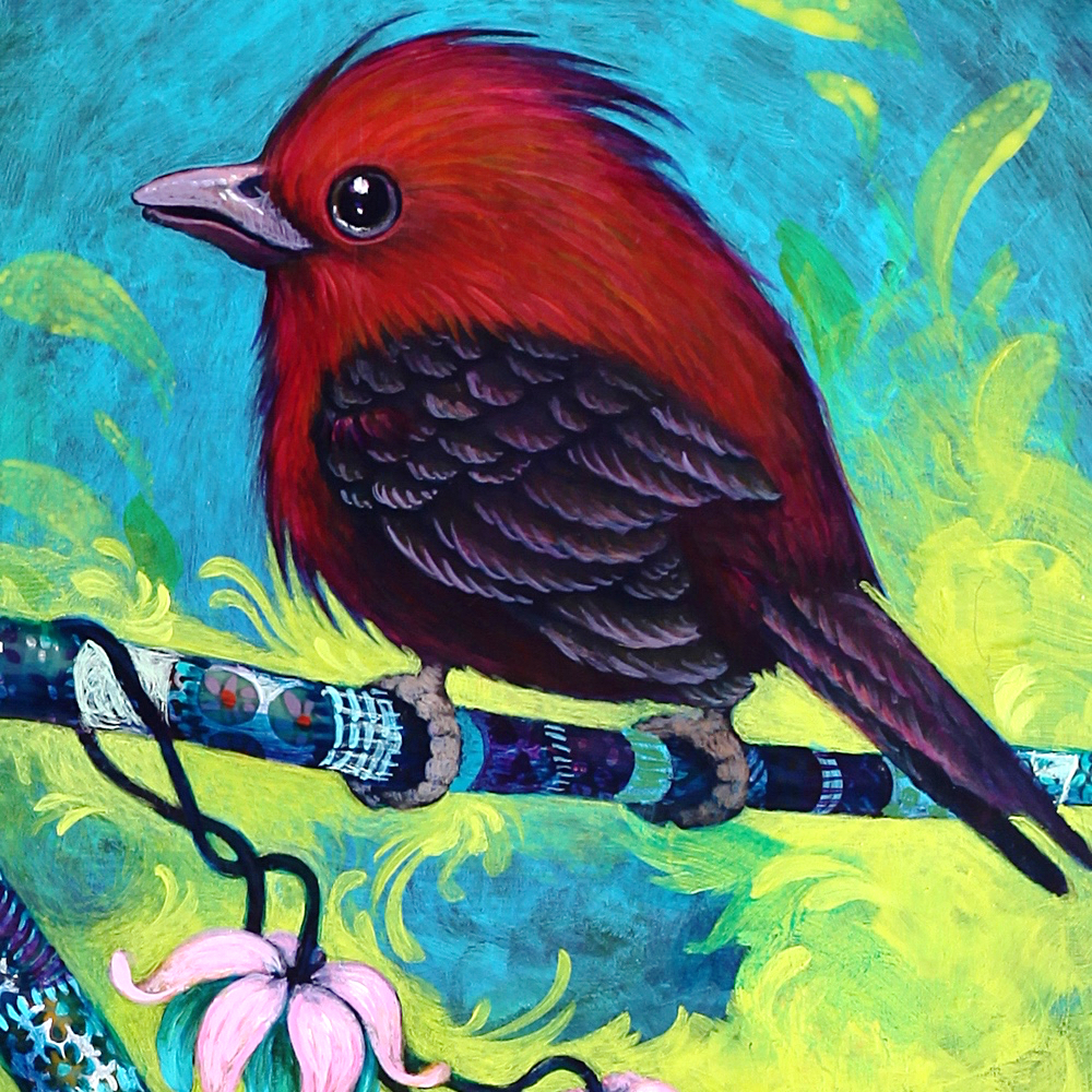 Detail of finished bird.