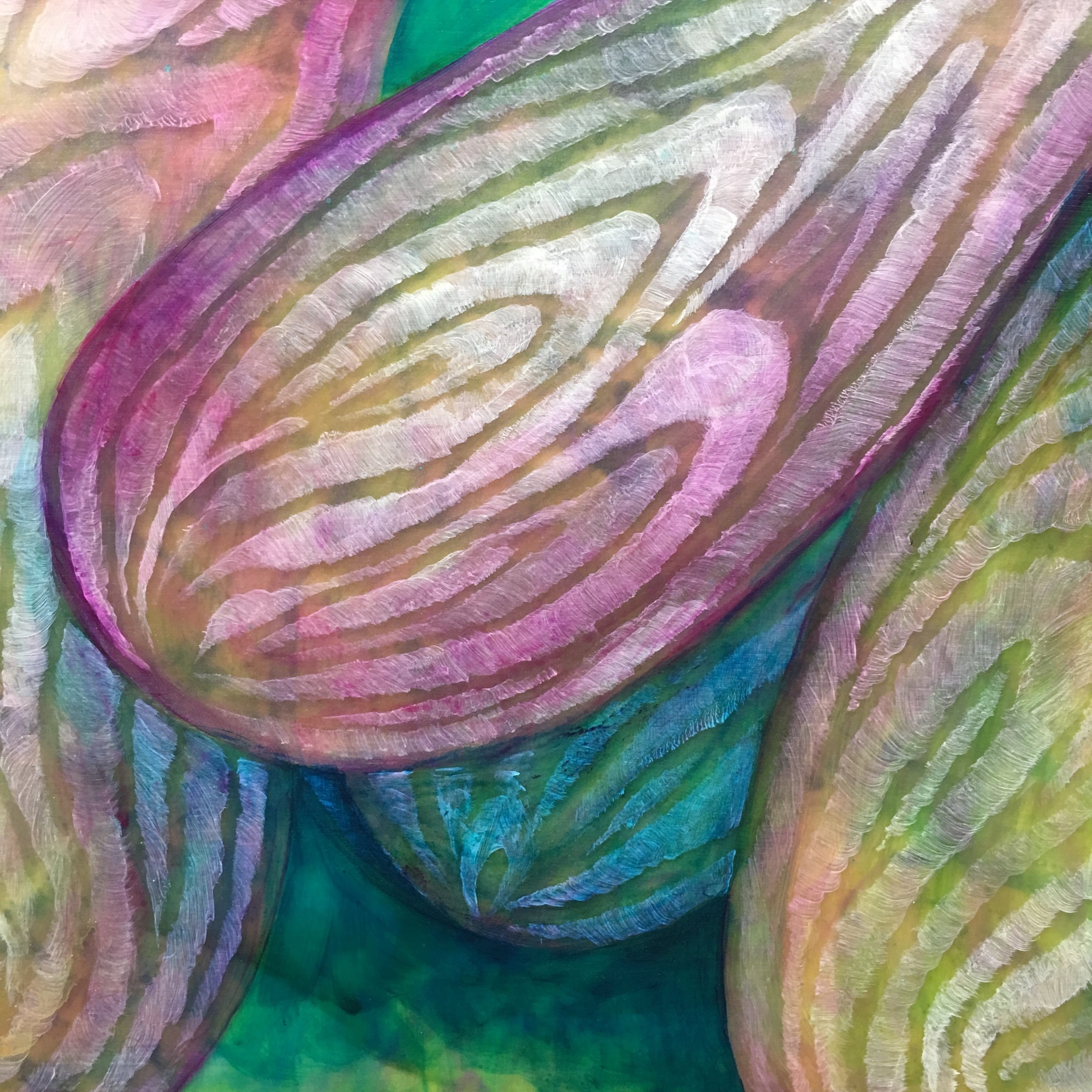 Detail of the onion in process.