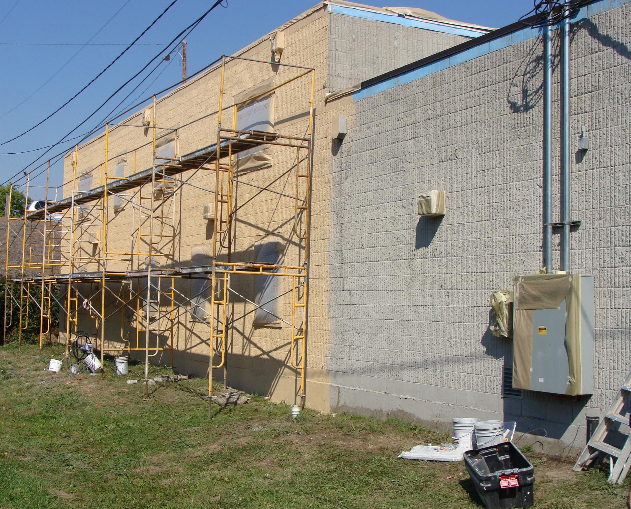 Construction of building #2 which now houses the dormitory, chapel, laundry room, staff quarters, GED training center, office and Board Room.