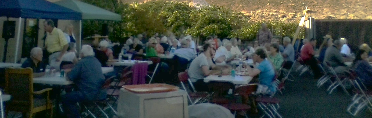 Retirement BBQ for Pastor Les Bailey and Grace Gantt (September 3, 2014) at the Shelter Facility parking lot.