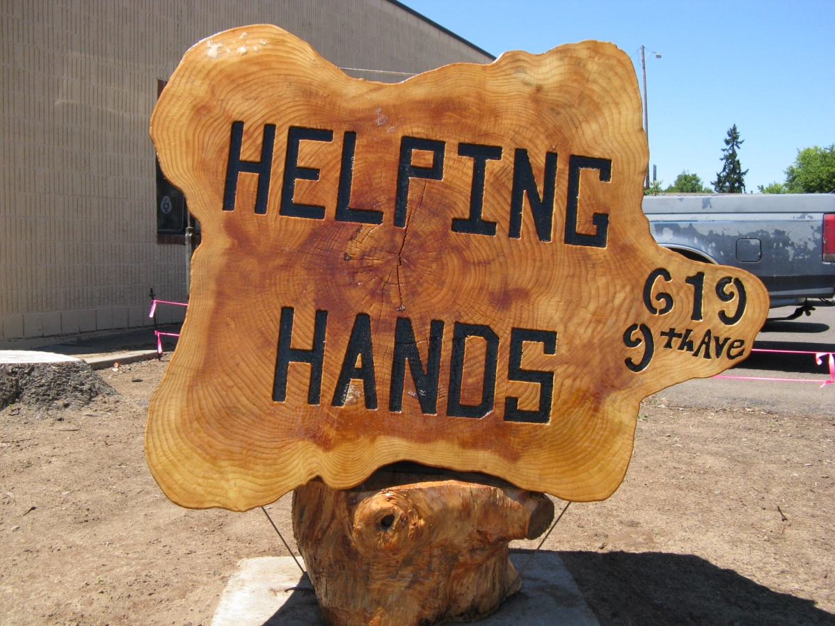 Sign created by an Albany Helping Hands guest