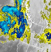 GEOS Satellite Picture of Looming Storm