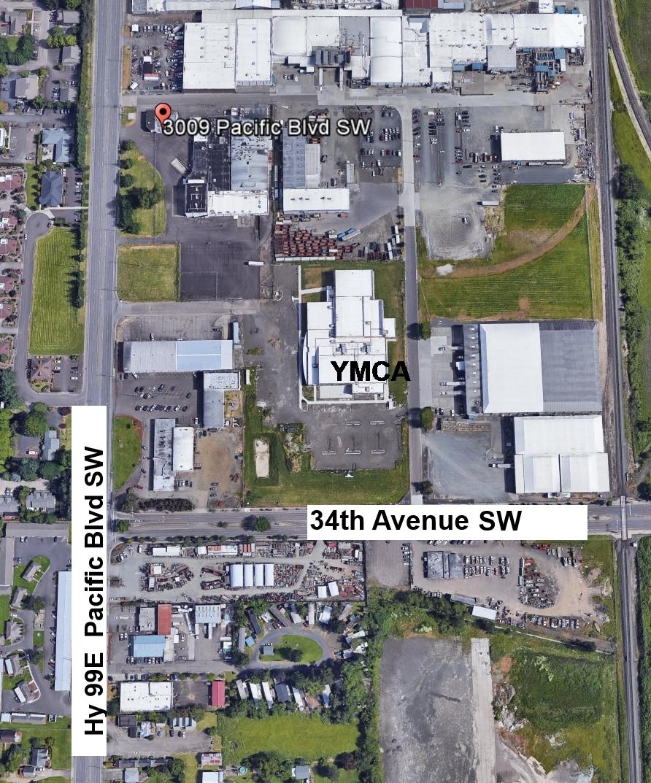 Tree lot at old Oberto Building at 3009 Pacific Blvd, 2 Blocks north of YMCA.