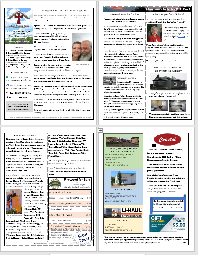 To download newsletter PDF file for reading and printing   click here .