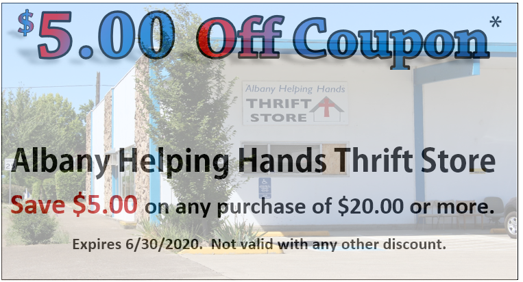 Click on Image of Coupon above and save coupon to your mobile device or print out coupon and present to store clerk for your $5.00 savings on any purchase of $20.00 or more.