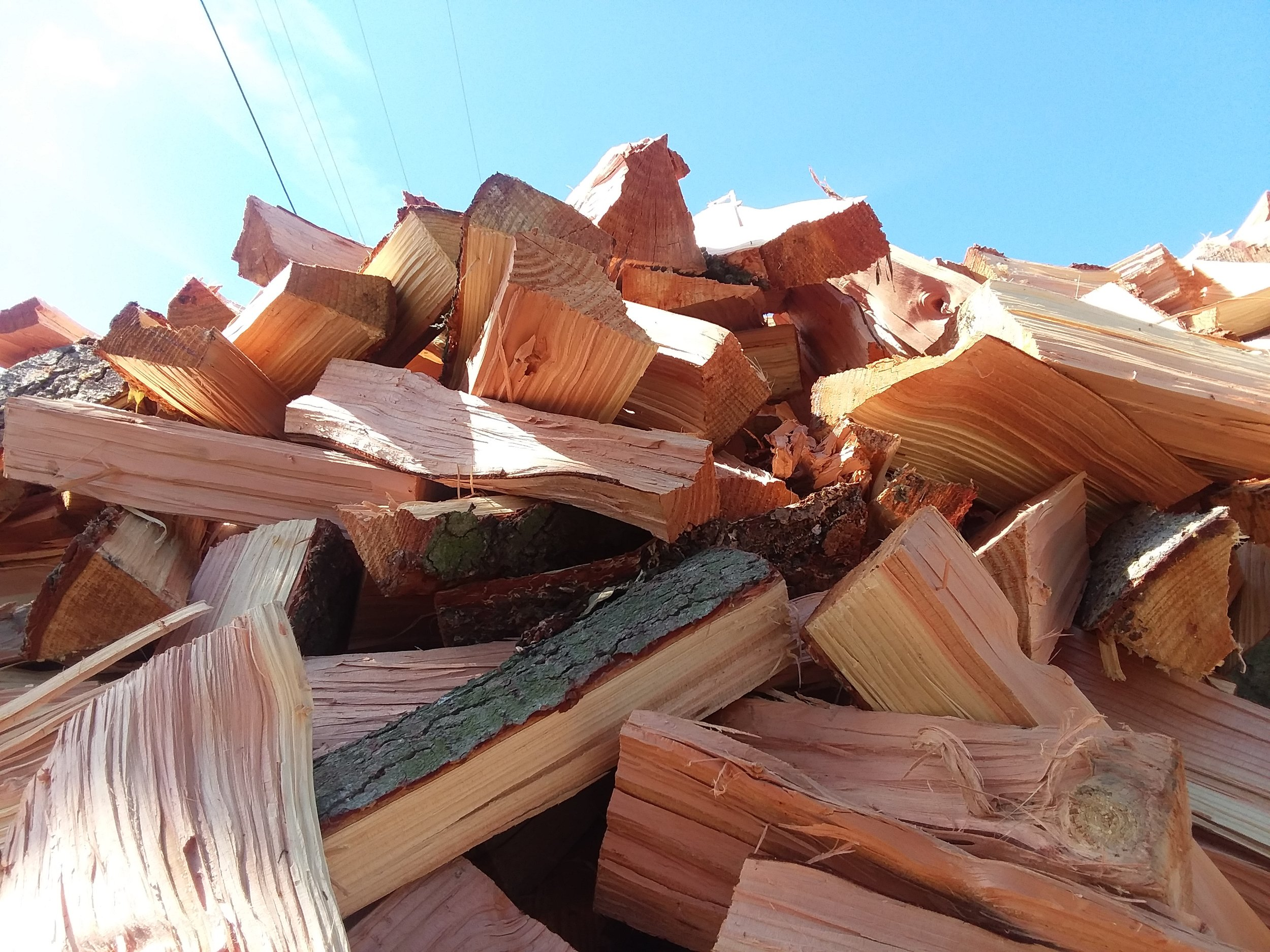 Need Firewood? - We have volumes from single Campfire size bundles to multiple cords delivered and stacked.