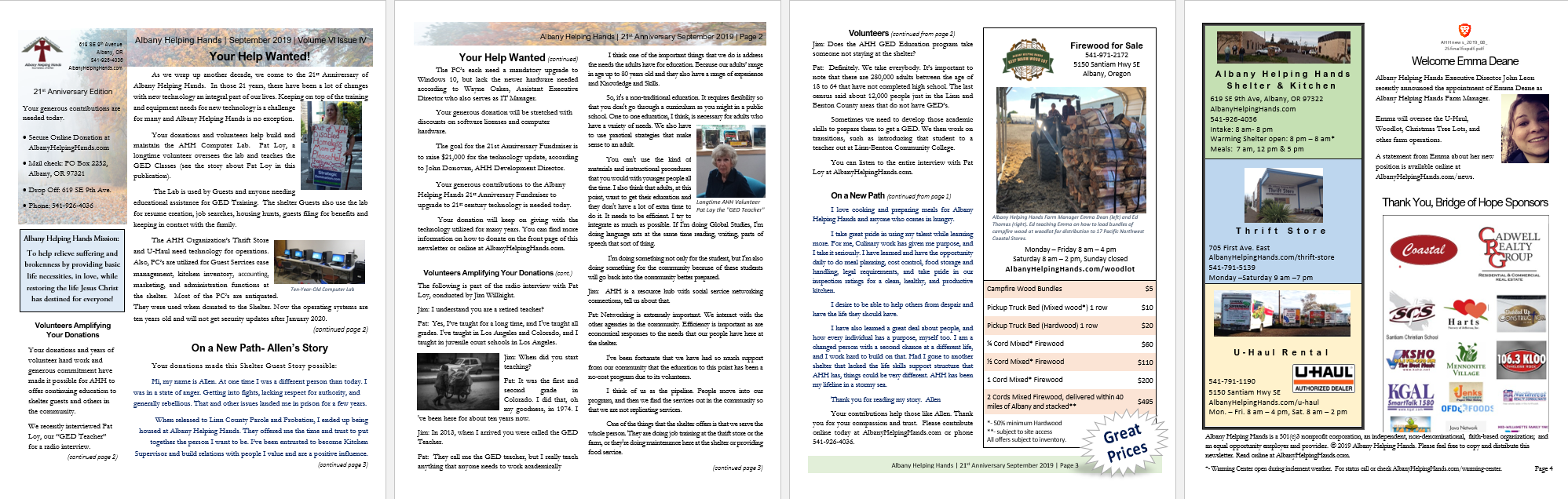 Click here   or on image above to view PDF file of this newsletter . Read it on screen or print it out, it's your call.