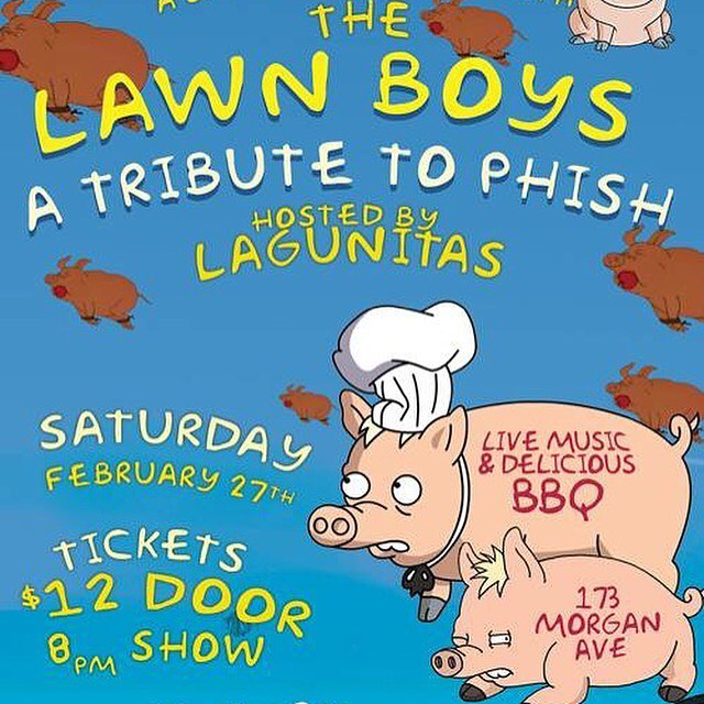 This Saturday! Don't miss us playing at The Arrogant Swine in #Brooklyn hosted by #Lagunitas! BBQ, Beer and #Phish! Sat 27 | $12 | show 8p