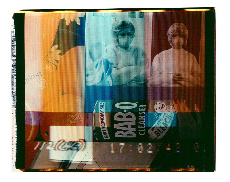"""Bab-o  Polaroid 20""""X24"""" 1987"""