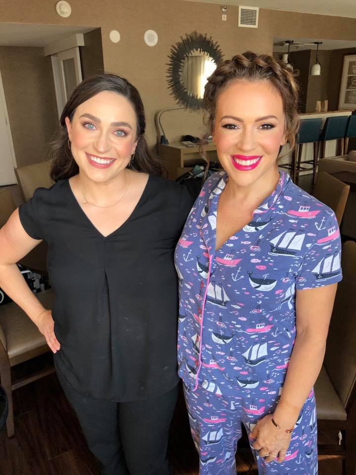 Makeup for actress Alyssa Milano