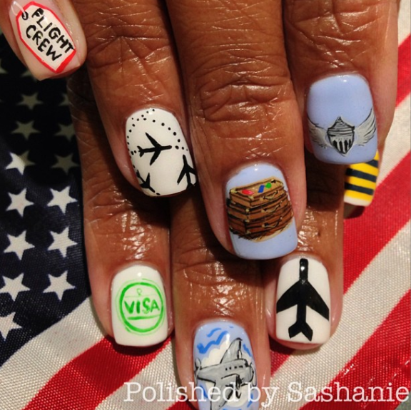 NAIL FILES: A Travel-Inspired Mani Ready for Takeoff!  (EBONY)