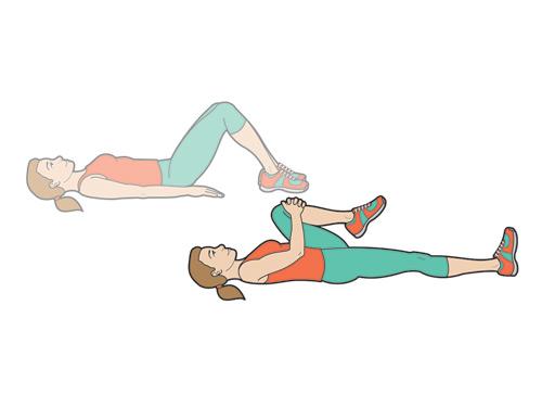 Alternate knee to chest