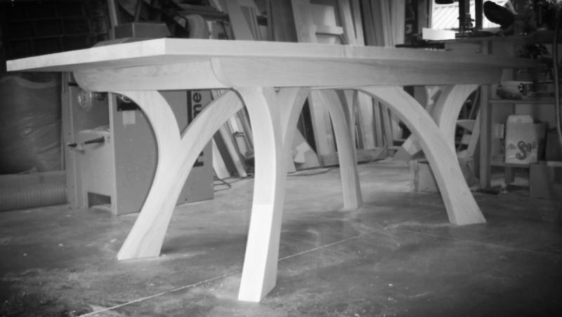 american white ash dining room table.JPG