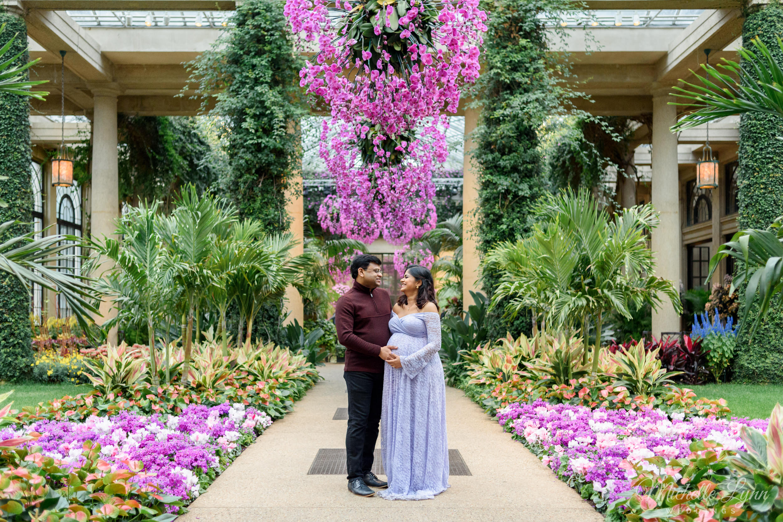 Maternity Portrait Session At Longwood Gardens Kennett Square Pa