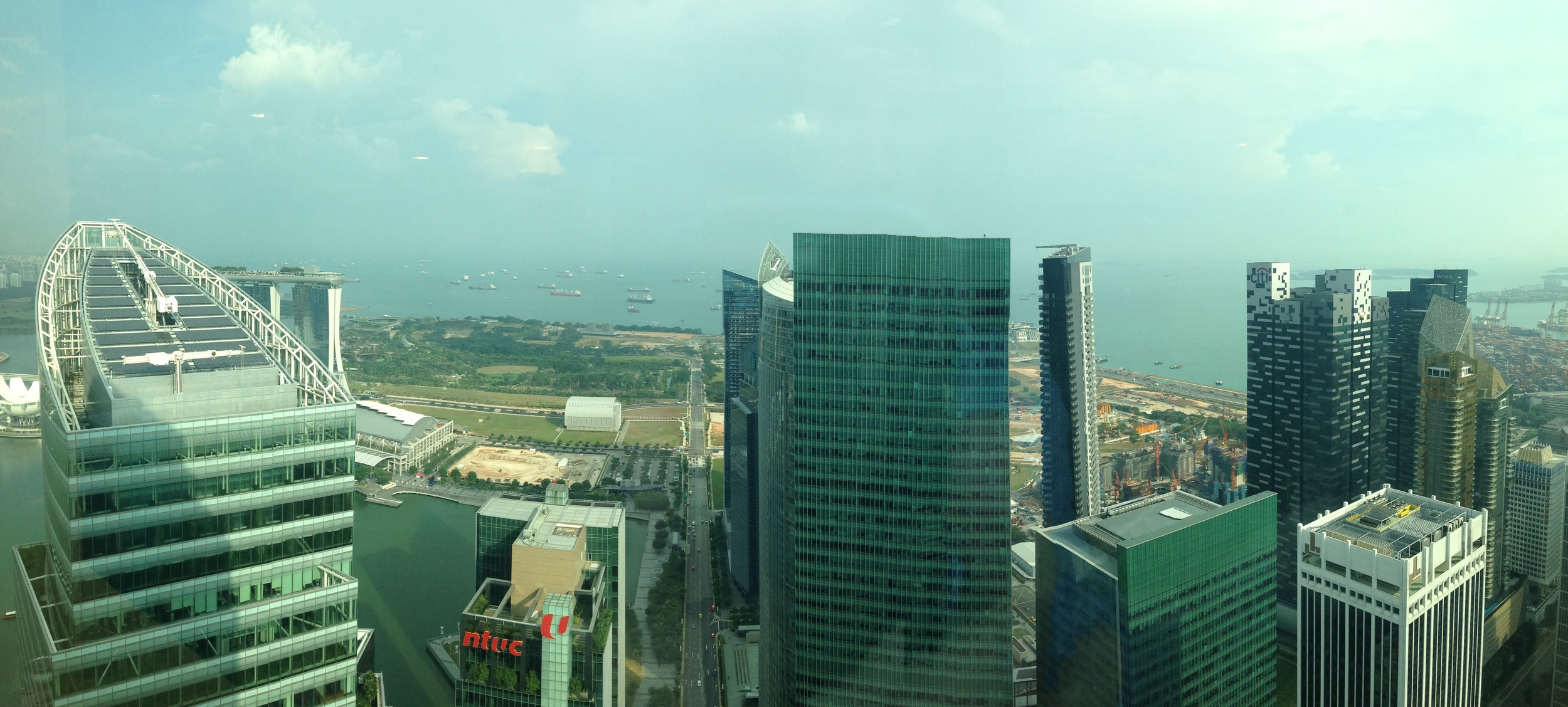 The view from EXHALE Singapore.