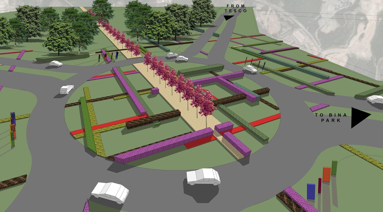 Proposed traffic circle